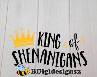 King of the Shenanigans Heat Press Transfer
