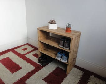 Shoe Rack / Storage / Bench - made from reclaimed pallet timber