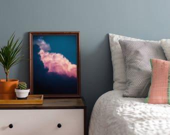 Cloud Art, Navy Blue Wall Art, Cloud Painting, Abstract Art, Large Wall Art - 8x10, A3, A2, A1 Fine Art Giclee Print