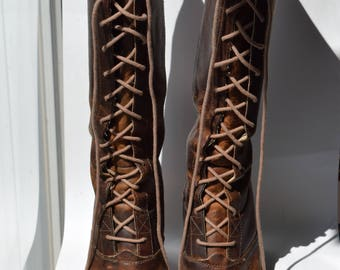 Frye Lace-Up Boots, Knee-High