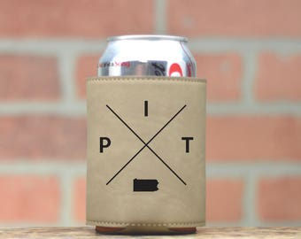 Pittsburgh | Can Cooler - Custom Can Coolers - Beer Cozy - Pittsburgh Pennsylvania