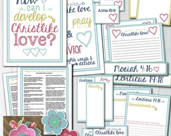 "October - LDS Young Women Come, Follow Me ""How can I develop Christlike love?"" Lesson printables and activity ideas"