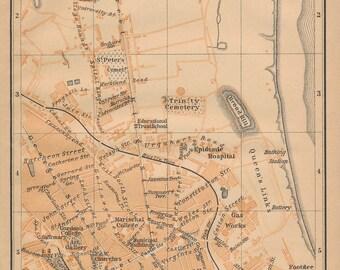 1901 Aberdeen Scotland Antique map