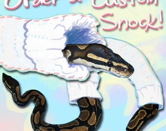 Order Your Own Custom Snake Snock! (YOU PICK colors, pattern, size)