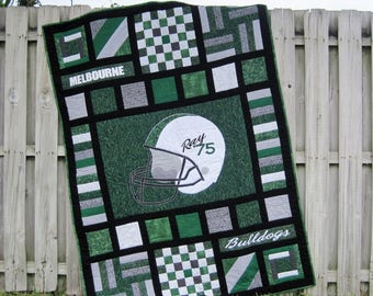 Sports quilt | Etsy : college quilt patterns - Adamdwight.com