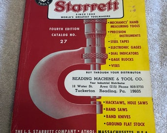 Vintage Starrett Tools Fourth Edition Catalog No. 27