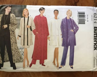 Butterick 6214 - Very Easy Separates with Duster, Jacket, Top, Skirt and Pants - Size 14 16 18
