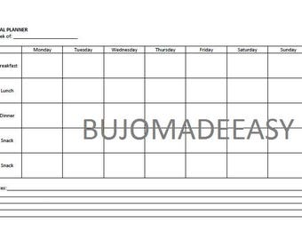 Meal Planner Template