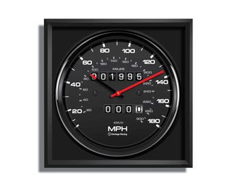 Large Personalized Porsche 911 Carrera RS Speedometer Wall Clock
