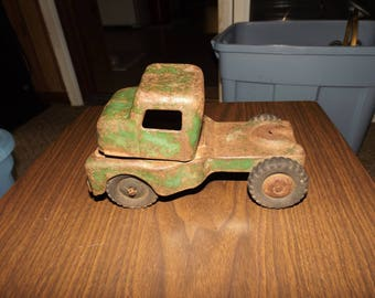 Vintage Steel Truck, Structo, Pressed Steel, Metal Toy Truck, Antique Metal Cars, Structo Toys, Gift for him, Collectible Toys, Rustic Decor