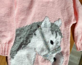 "sweater girl ""horse"" motif"