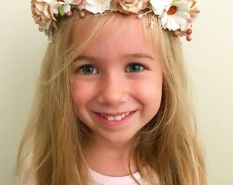 Flowergirl Crown  | Boho Floral Crown | Flower Crown | Flower Heaband | Floral Headband | Baby Shower Headband | Hens Party Crown