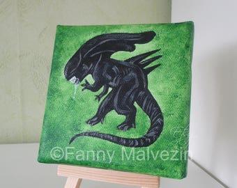 Xenomorph queen (Aliens) - Mini painting