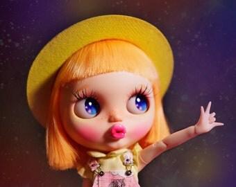 PJdolls-#233[Mango!] Custom Blythe Doll/OOAK, handmade Blythe custom/ブライス/カスタムブライス doll dress include