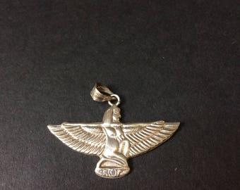 Goddess Isis Silver Pendant - Ancient Egypt - Fertility - Magic - Handmade