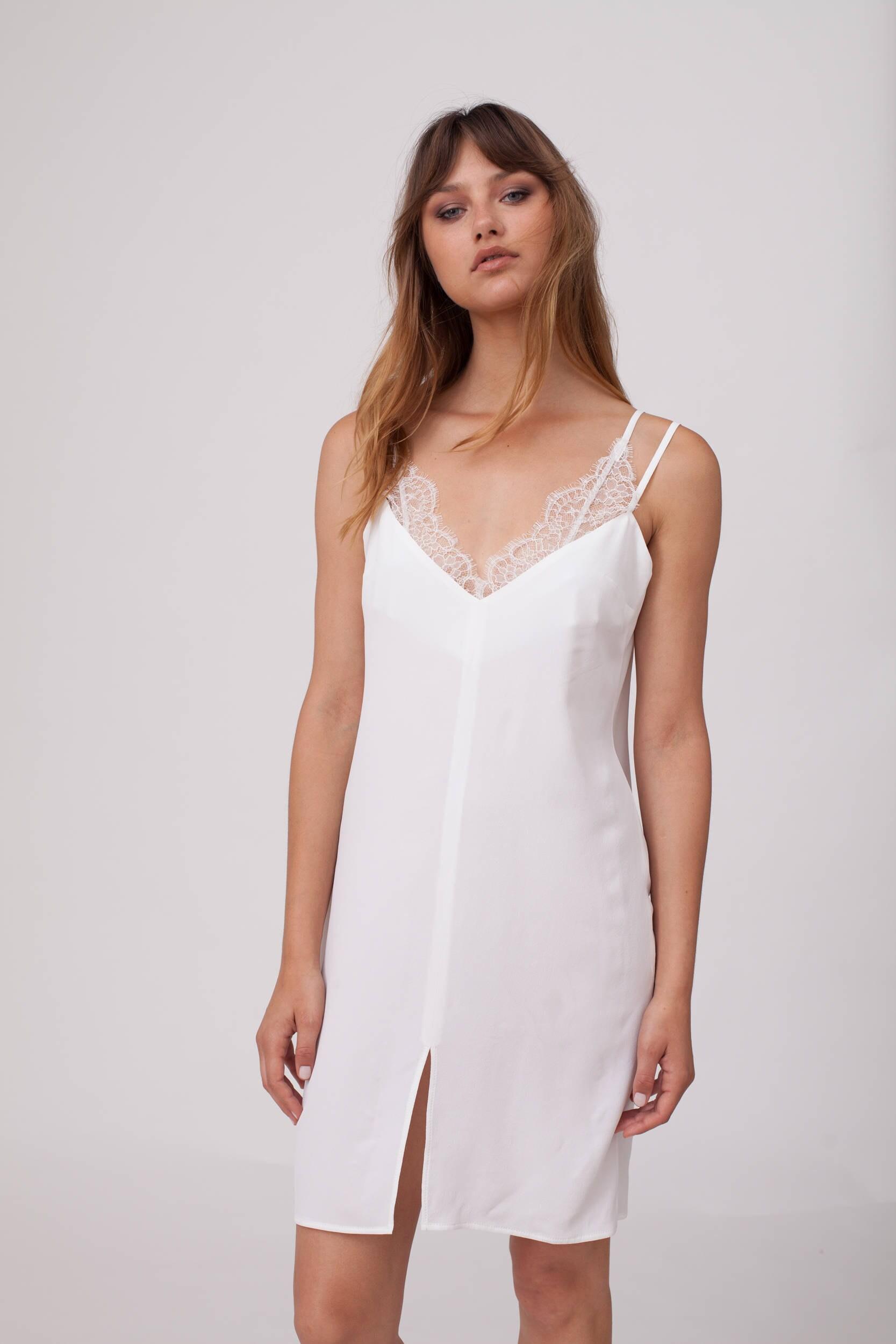 White slip white dress bridal slip bridal lingerie for White silk slip wedding dress