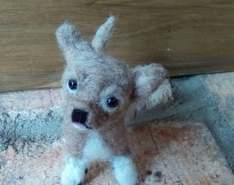Miniature needle felted Chihuahua