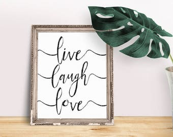 Encouragement Gift Live Laugh Love | Quotes About Life, Life Quote Sign, Success Quotes, Inspiring Saying, Words of Wisdom, Living Quote