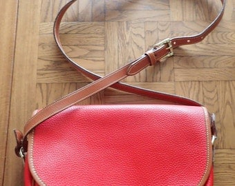 Dooney & Bourke Red All Weather Leather Crossbody