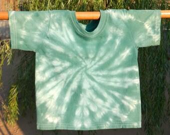 Size 2T/3T Green Tie-Dye T-shirt