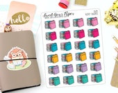 Reading Planner Stickers - Book Icon Planner Stickers - Book Club Stickers - Icon Planner Stickers - Cat Planner Stickers - 1529