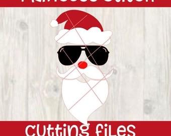 Santa's Face - Digital Download - Santa Face svg - Christmas Cut File - santa beard - vector file - santa cutting file - homeboy svg