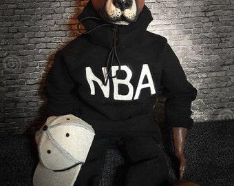 Pitbull basketball player dog