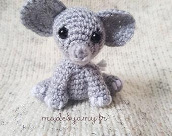 Petit éléphantinou patron de crochet amigurumi éléphant