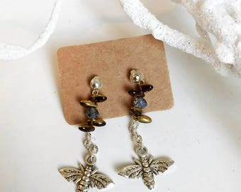 The beads and bee earrings