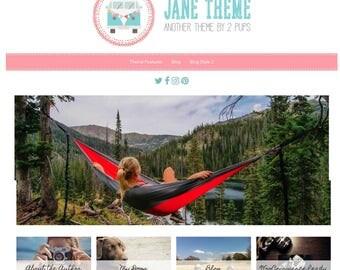 Wordpress Blog Theme, Ecommerce, Pink Blog Design, Genesis, Wordpress Template