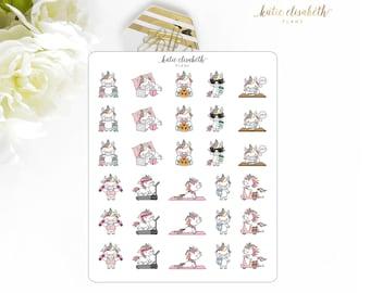 Cute Unicorns Set 2 || Planner Stickers
