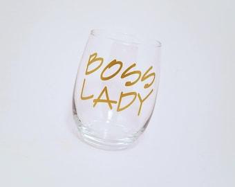 Boss Lady, Boss Lady Glass, Boss Gift, Boss Babe, Boss Lady Gift, Boss Lady Wine Glass, Lady Boss, Lady Boss Gift, Mom Boss, Girl Boss, Wine
