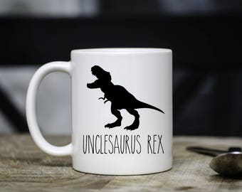 Unclesaurus Rex Mug, Funny Mug for Uncle, Uncle Mug, Funny Uncle Gift, Present, Mug, Cup, T Rex, Dinosaur, From Niece Nephew, Pregnancy
