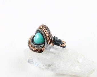 Size 4.5 Amazonite Ring