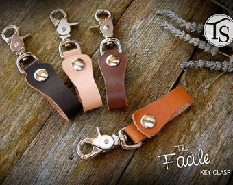 The Facile - Leather Keychain Lanyard