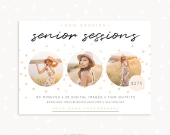Senior Session Template, Senior Graduation Template, Senior Marketing Template, Graduation Photo Sessions, Graduation Templates, Seniors