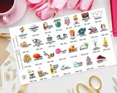 July Wacky Holidays Planner Stickers great for Erin Condren, Happy Planner, Travelers Notebook, Filofax, Kikki K, TN, Days of the year