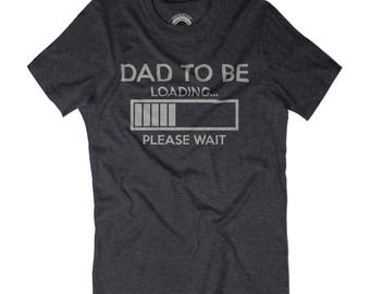 PREGNANCY SHIRT Dad to be loading please wait t-shirt New dad shirt Pregnancy shirt Wife is pregnant tshirt Geeky new dad gift Loading shirt