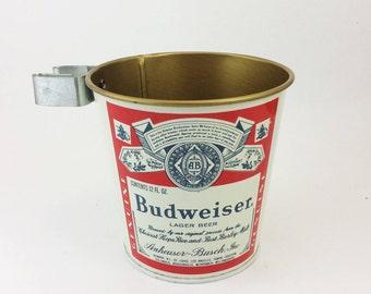 Vintage Budweiser ashtray, clip on ashtray, Budweiser memorabilia, from the 1960s