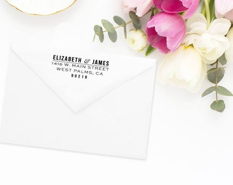 Return Address Stamp, Address Stamp, Custom Address Stamp, Wedding Return Address Stamp, Personalized Return Address Stamp, Rubber Stamp #67