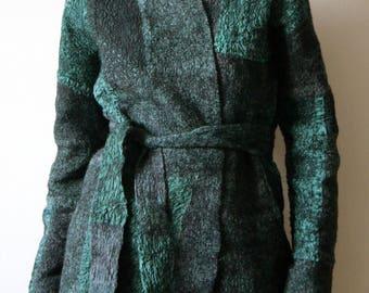 """Women's felt jacket """"Green patina"""""""