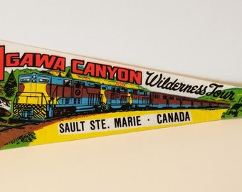 Agawa Canyon Wilderness Tour, Sault Ste. Marie, Canada - Vintage Pennant