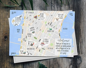 Custom Wedding Map | Wedding | Welcome Map | Custom Map | Welcome Bags | Weddings | Bride | Wedding Paper | Wedding Signage | Postcard