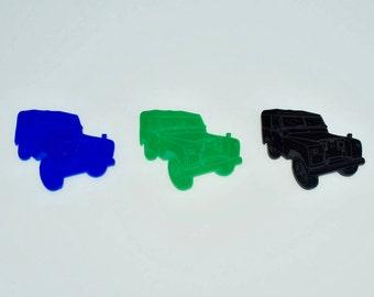 Land Rover Series 1 Defender Fridge Magnet - Cool Fridge Magnets - Green - Blue - Black