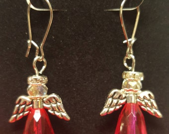 Hot Pink Angel earrings