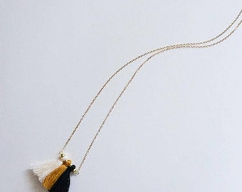 Tansy Tassel necklace