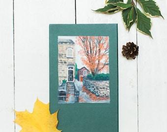 Autumn - Original Gouache Painting