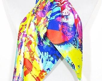 Luxury 100% Silk Scarf - Vibrance