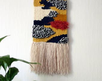Colorful woven wall hanging