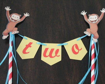 Curious George cake topper | Curious George party decorations | Curious George birthday | Curious George theme | Curious George cake topper
